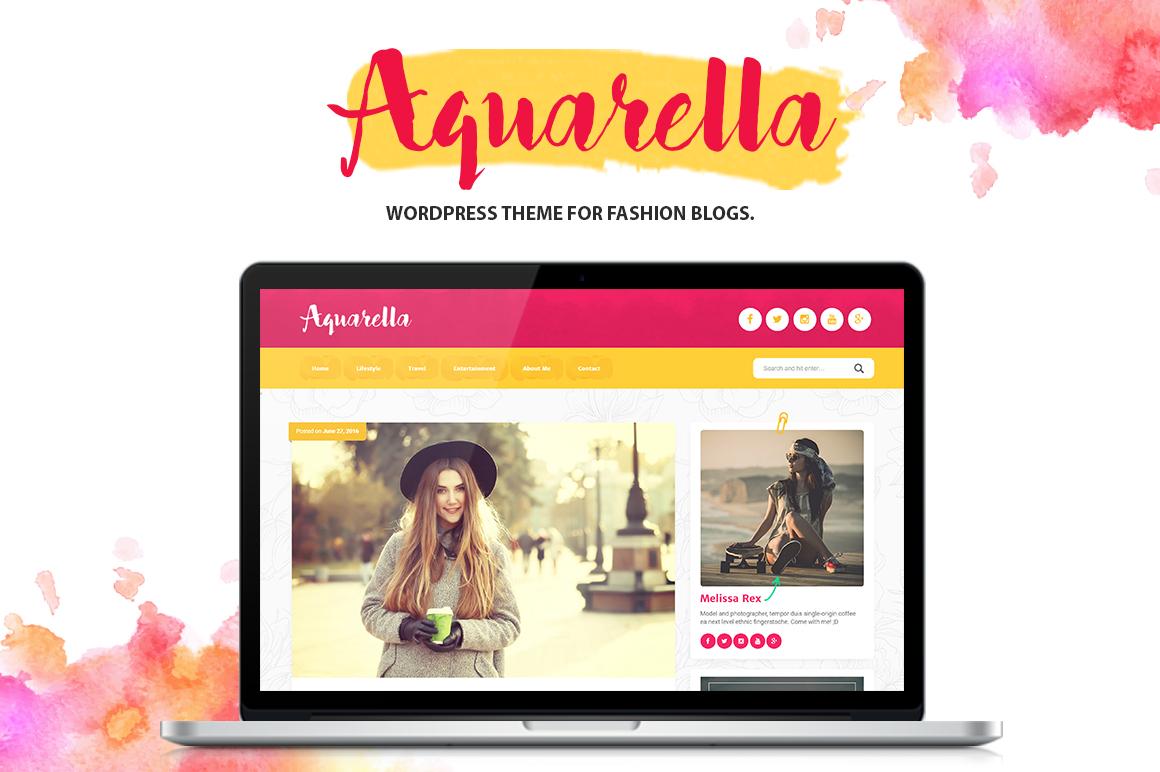 Aquarella - Lifestyle WordPress theme for Digital Influencers