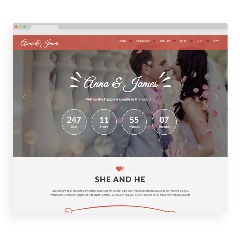 Amore: Wedding WordPress Theme