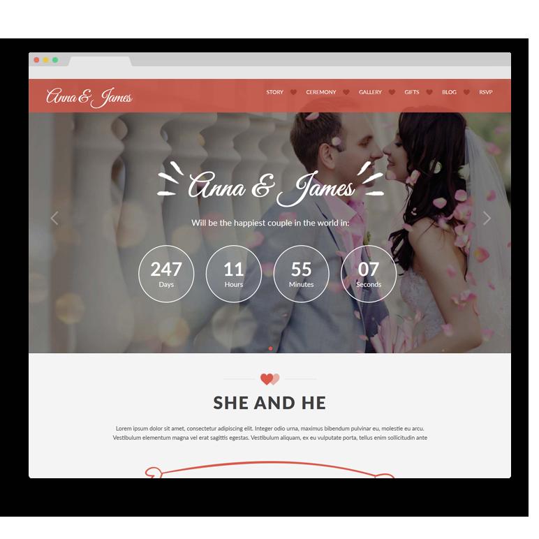 Amore: Wedding WordPress Theme